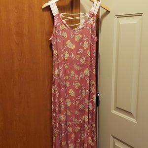 Pink Rose Maxi Dress